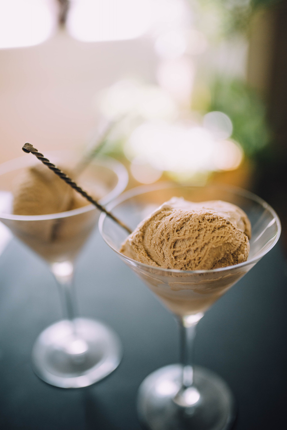 Lifestyle image of coffee ice cream