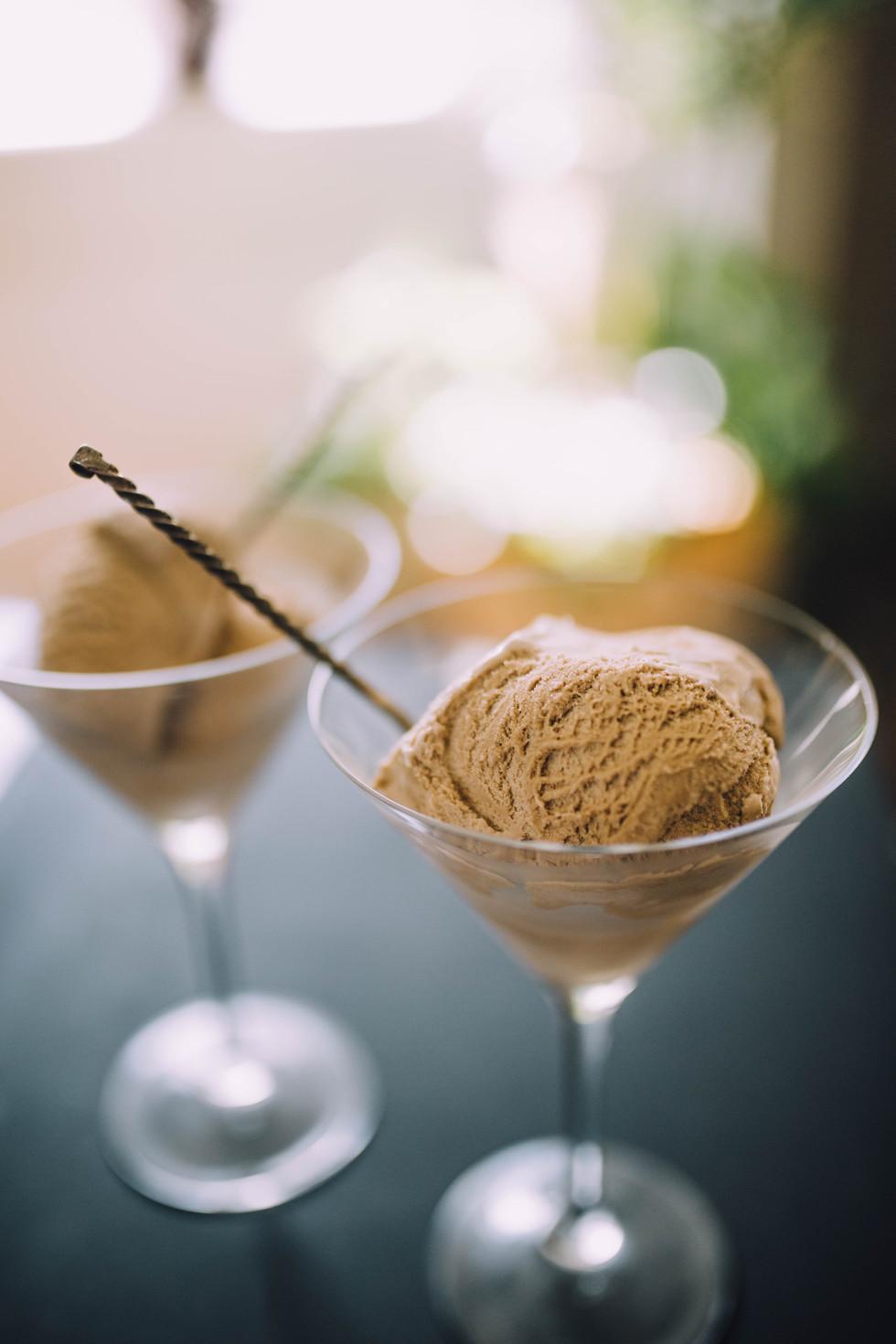 Lifestyle image of coffee ice cream