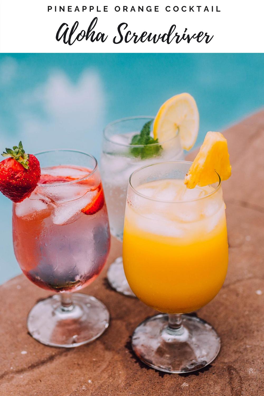 Aloha Screwdriver cocktail