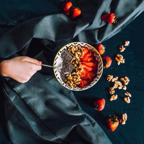 Photo of a greek yogurt bowl
