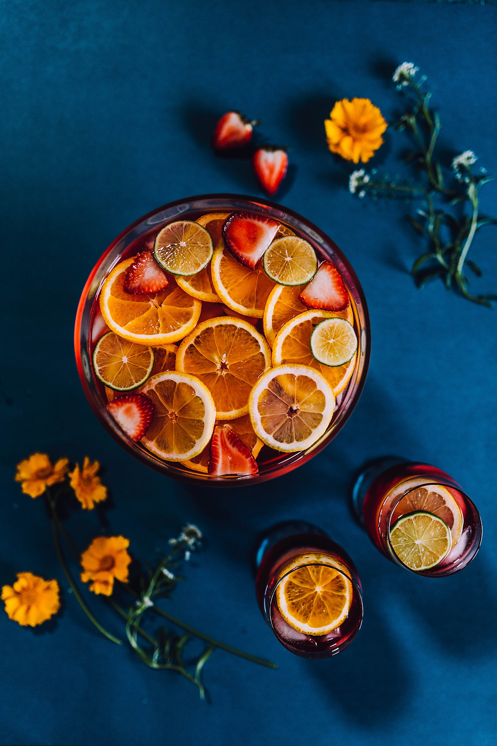 Passion Fruit Iced Tea with Citrus