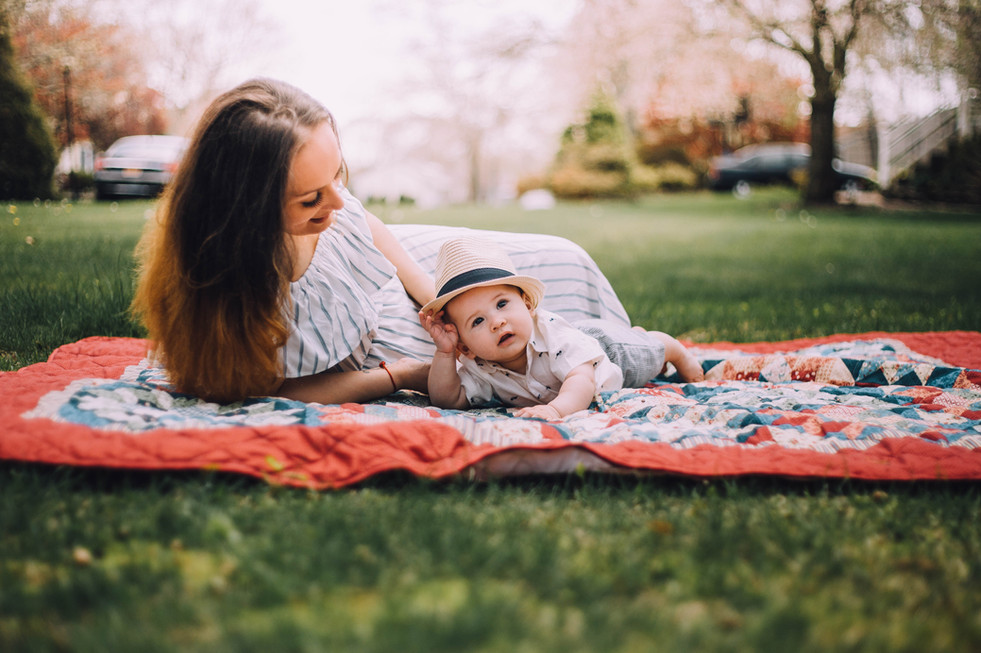 Lifestyle photo of a mother and son