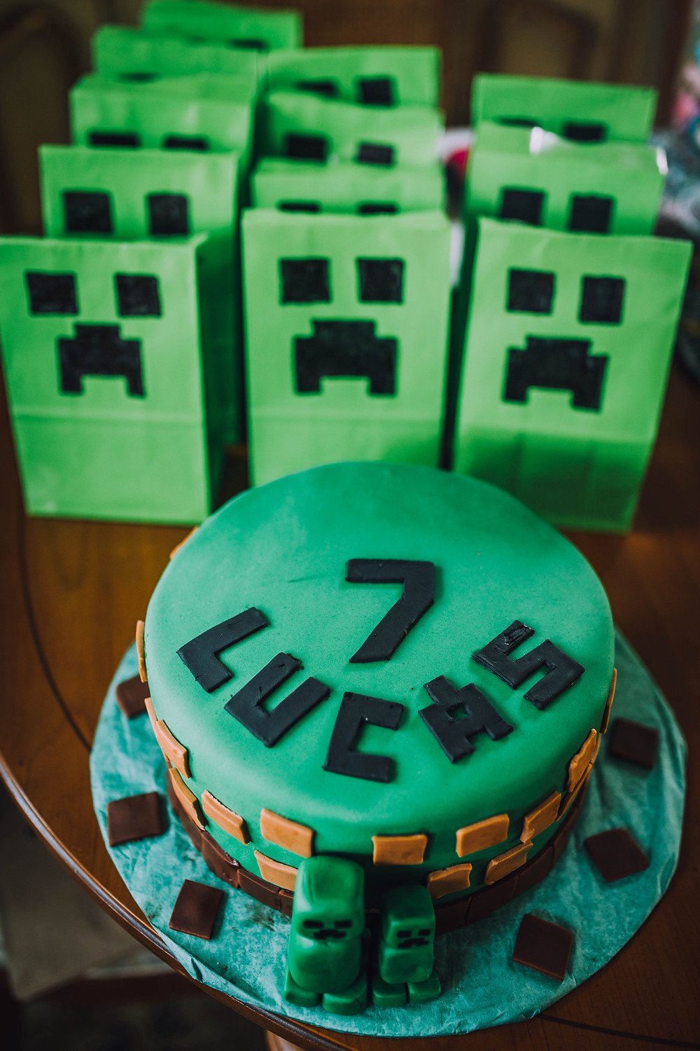 Minecraft Birthday Cake