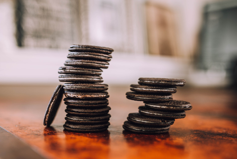 Product photoshoot of Oreos