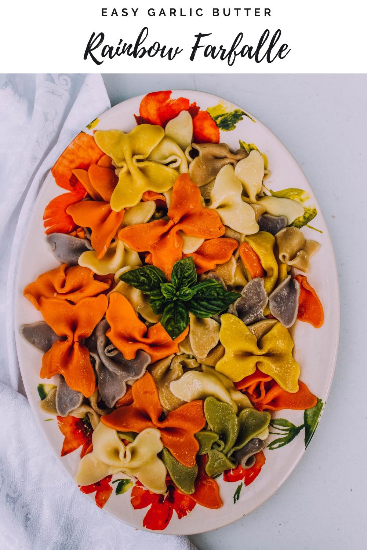 Rainbow Farfalle - bow tie pasta