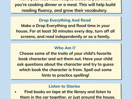 Family Reading Tips for the Long Weekend