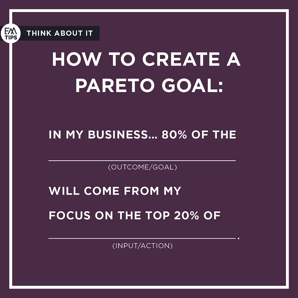 "Ask yourself ""How could you apply PARETO'S PRINCIPLE to narrow in on the solution?"""