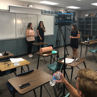 Shooting our educational video!