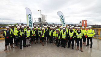 Create Construction & Niveda celebrate Topping Out ceremony in Liverpool