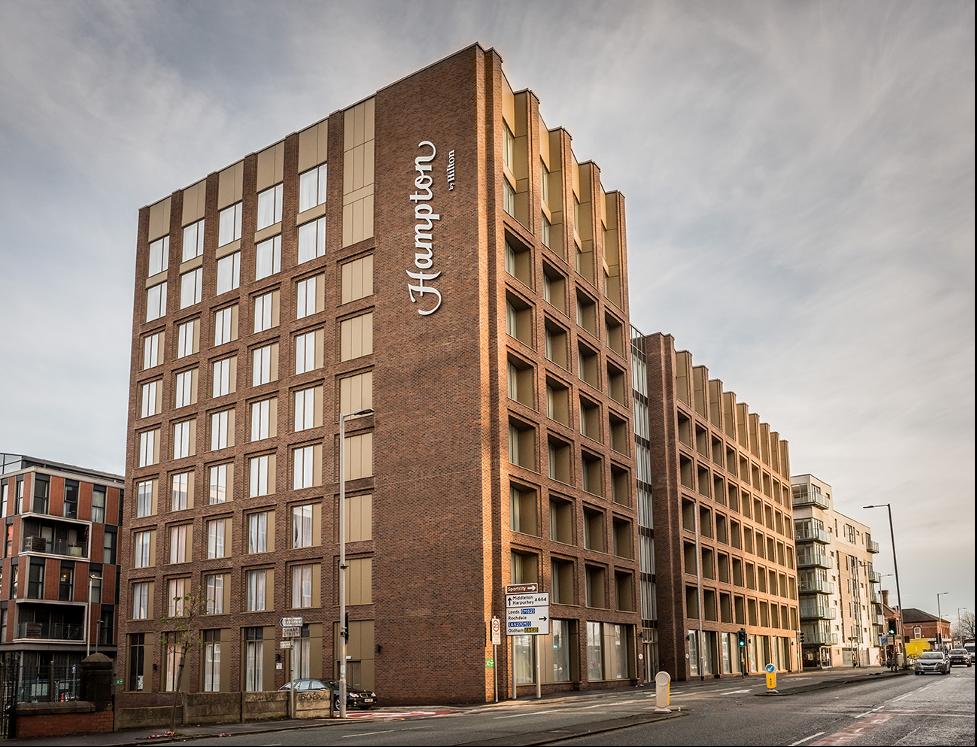 Exterior of Hampton by Hilton Manchester