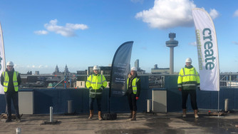 Create, Niveda & Prestige Student Living celebrate Topping Out for Bowline, Liverpool