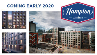 Create set to start on Sharp Street Hampton by Hilton hotel!