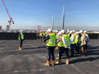 Create Group celebrates Topping Out for new Hampton By Hilton Hotel in Manchester