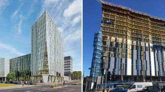 Create Construction & Niveda plan Topping Out ceremony for new student accommodation project at