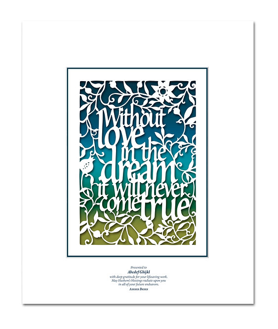 Without love in the dream Papercut
