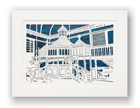The Bima, Zabludow Synagogue, Poland. Laser paper cut