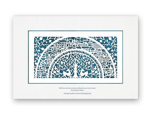 Jerusalem papercut