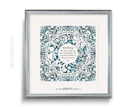 Personalized Home Blessing paper cut