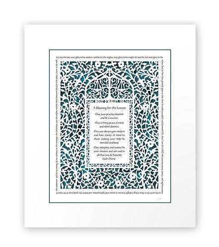 Attorney / Lawyer Prayer, English Paper Cut