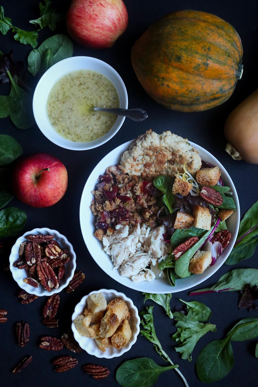 Gobbler Salad Bowl with Apple Cider and Thyme Vinaigrette