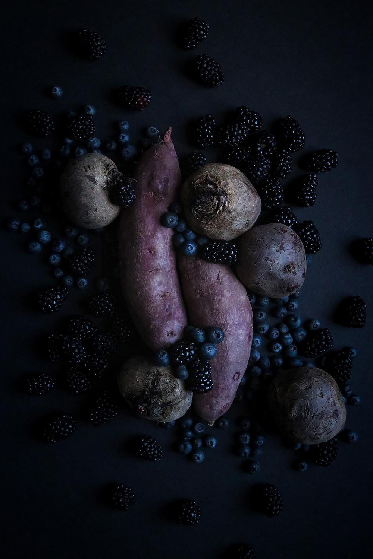 Purple Sweet Potato, Beet, Blackberry, Blueberry Breakfast Protein Shake