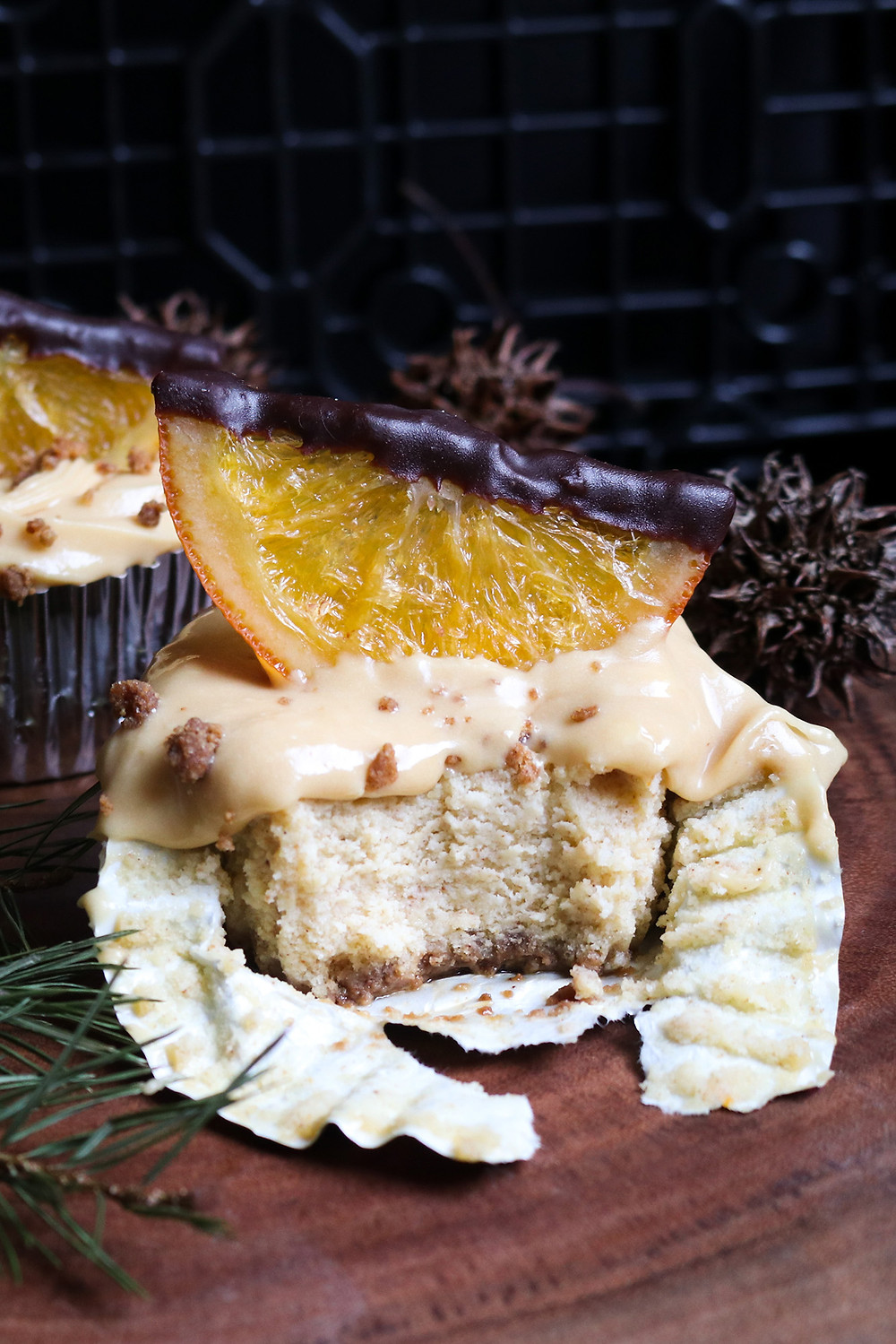 Ginger & Orange Ricotta Cheesecake Cupcakes