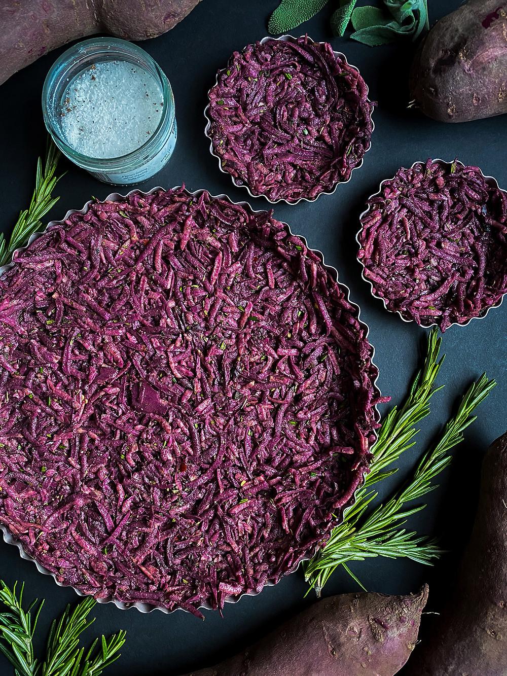 Truffle Purple Sweet Potato Tart Crust