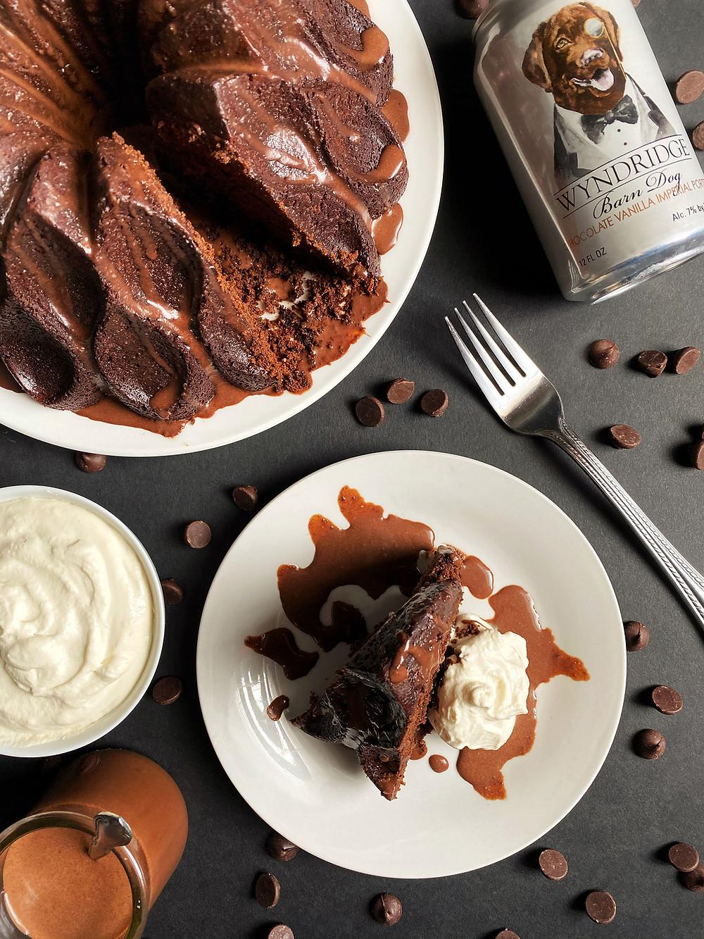 Double Chocolate Vanilla Porter Cake