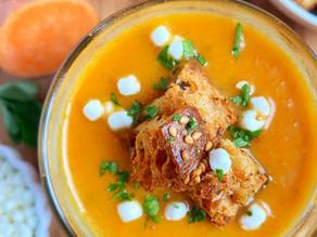 Creamy Ginger, Sweet Potato & Carrot Soup
