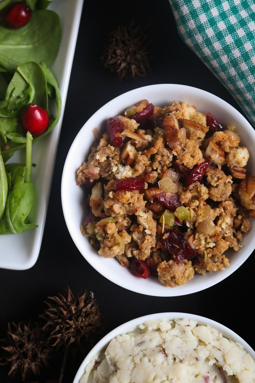 Semi-Homemade Cranberry Pecan Stuffing