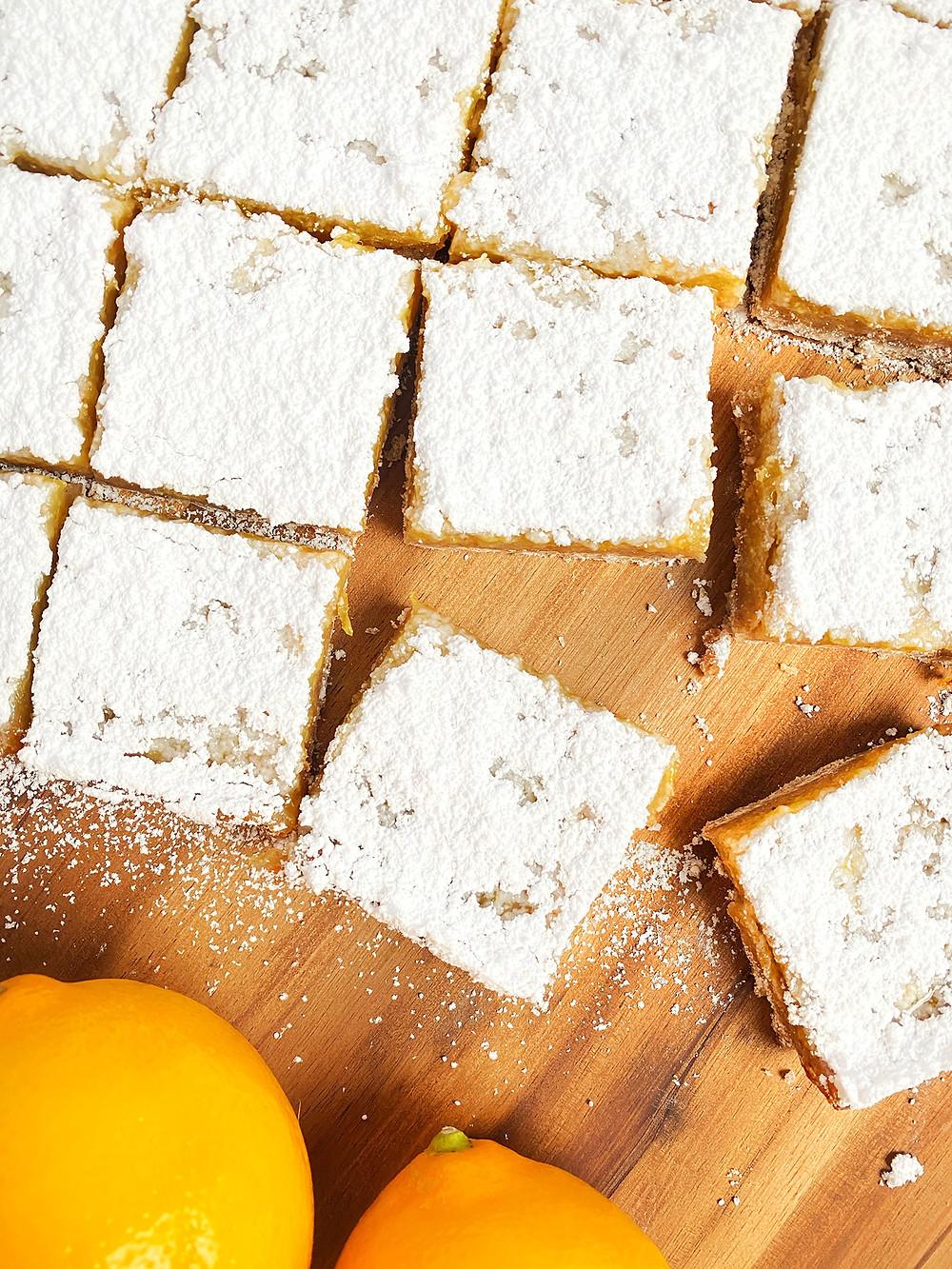 Vegan Shortbread Lemon Ginger Bars