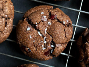 Double Chocolate Brown Butter Cranberry Cookies