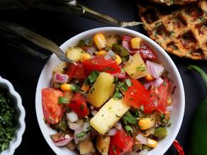 Pineapple & Roasted Corn Salsa