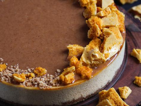 Honey Almond Ricotta Cheesecake