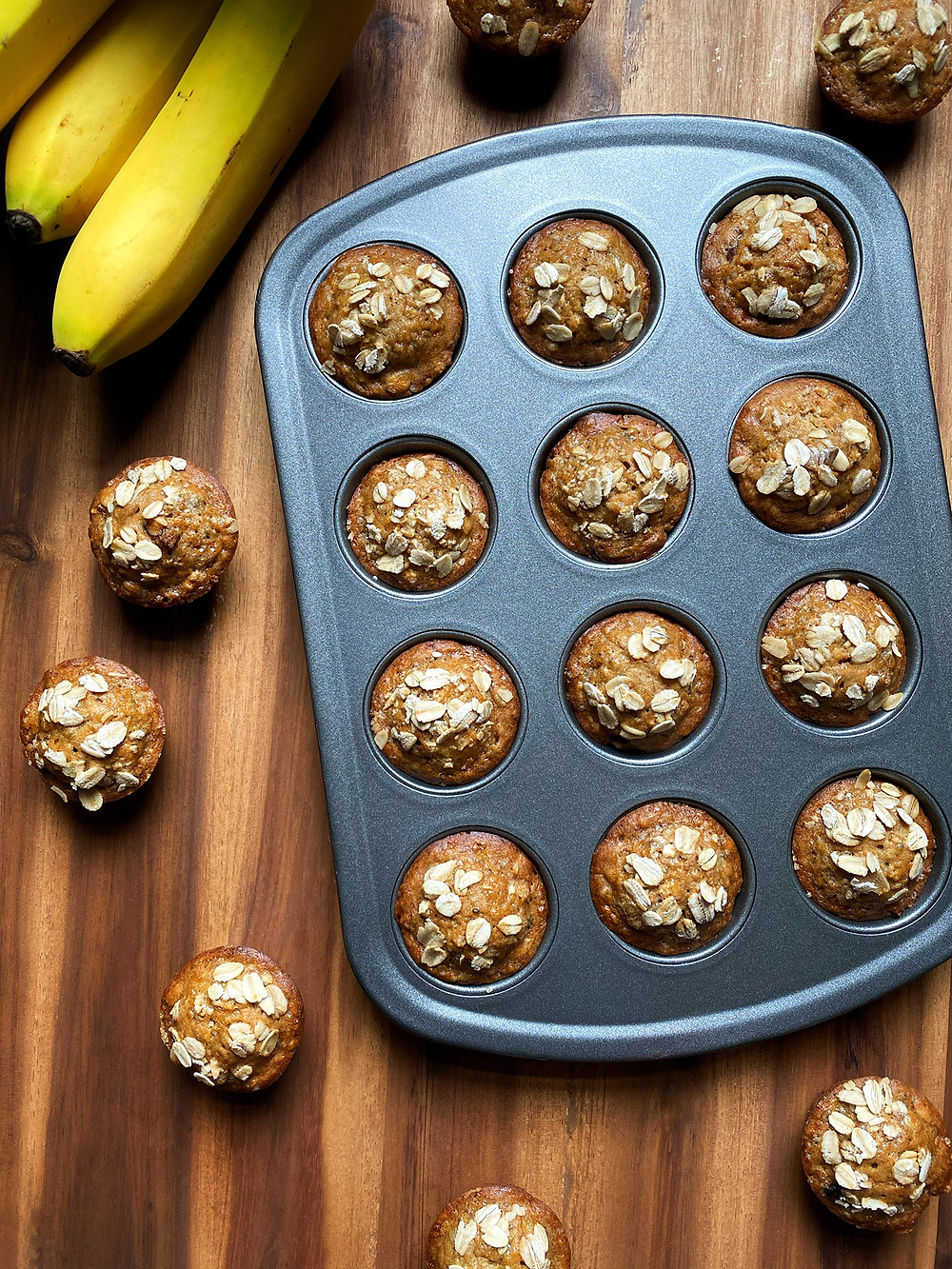 Vegan Maple Oat Banana Muffins