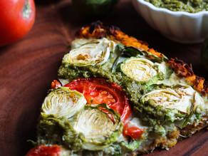 Pesto & Brussels Sprout Egg White Tart