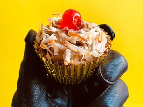 Vegan high protein Tropical Banana Muffins