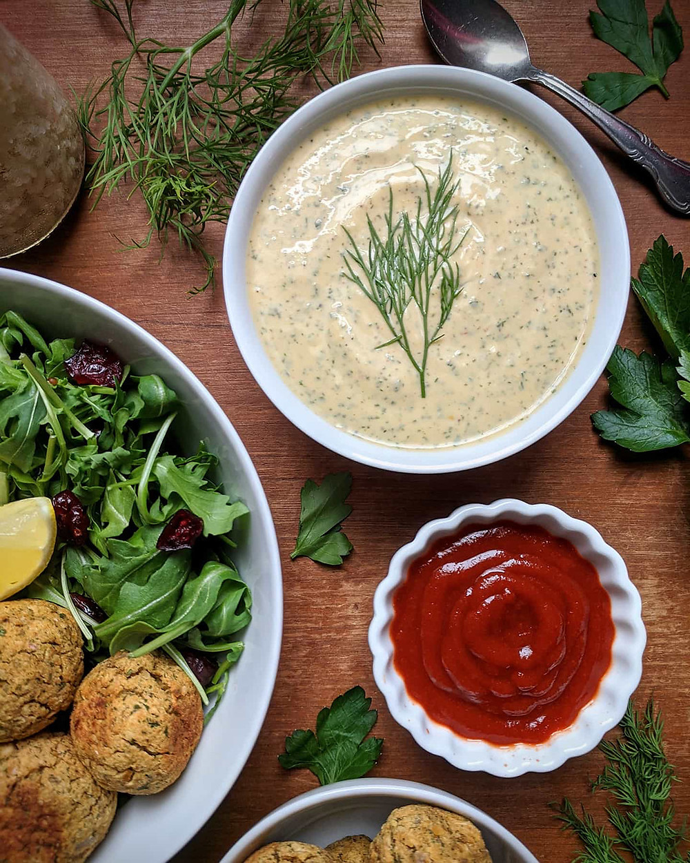 Spicy Baked Dill Falafel