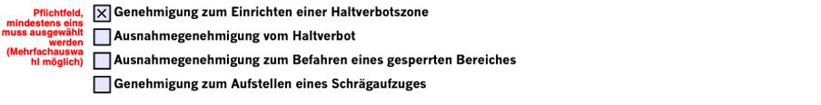 Genehmigung zur Einrichtung einer Halteverbotszone - Düsseldorf
