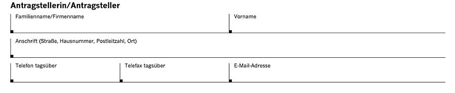 Antragsteller - Genehmigung Düsseldorf Halteverbot