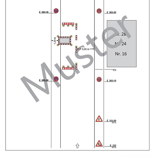 Verkehrszeichenplan Halteverbot Essen