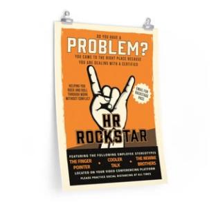 HR Rockstar Poster