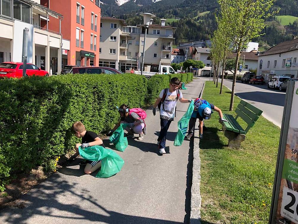 Flurreinigung 2018, Klasse 4c Volksschule Hans Sachs (Schwaz)