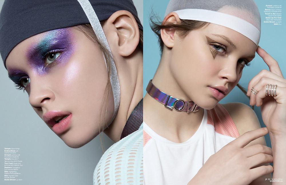 Temptu airbrush makeup for Jute Magazine in Houston
