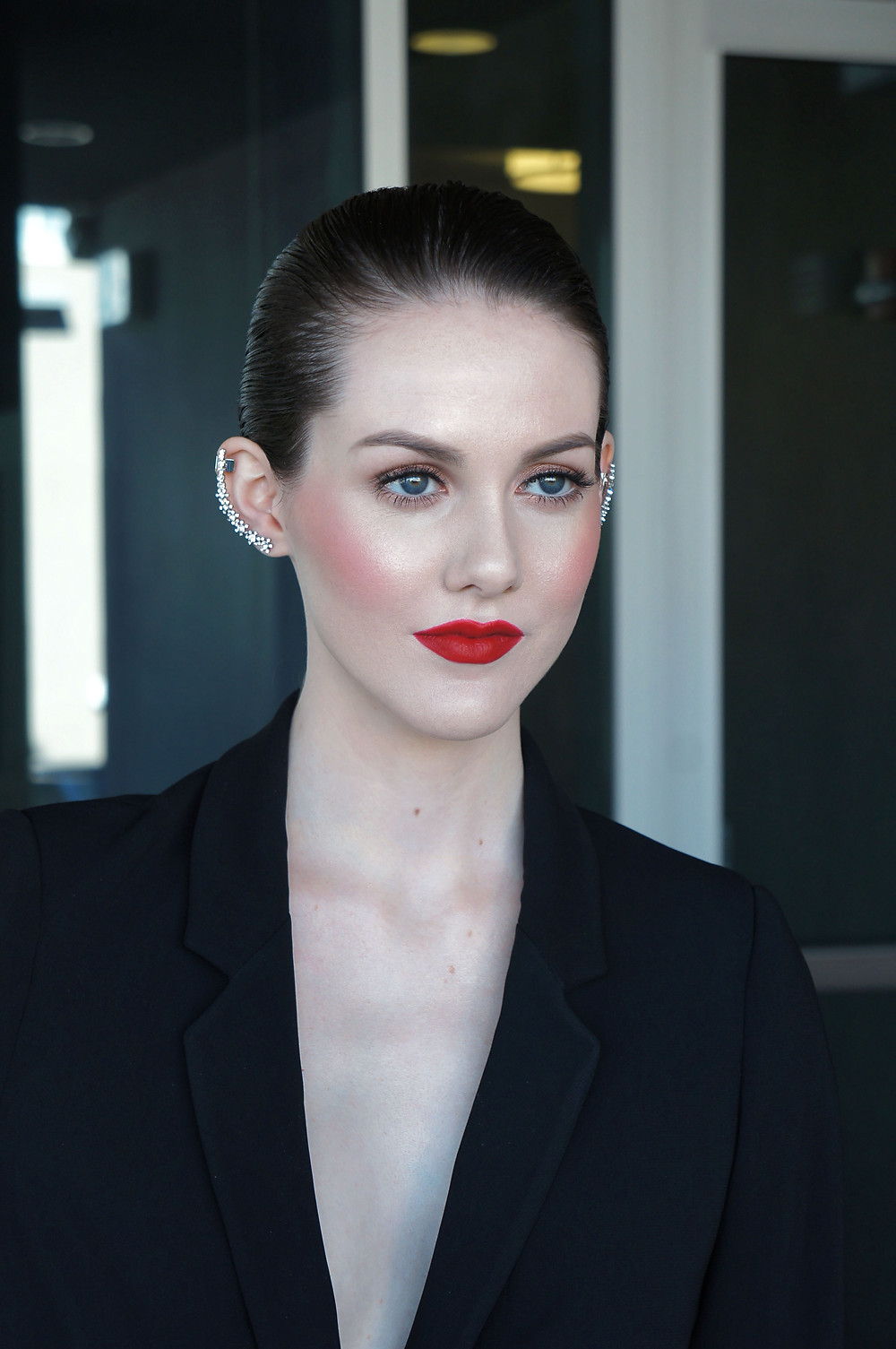 Red Carpet makeup look on Lydia Wilson