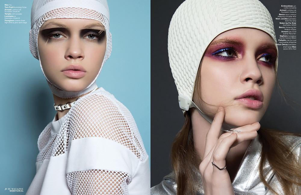 Airbrush makeup for Jute Magazine in Houston
