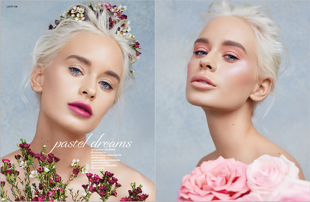 Spring Beauty Makeup For Lucys Magazine Issue 34