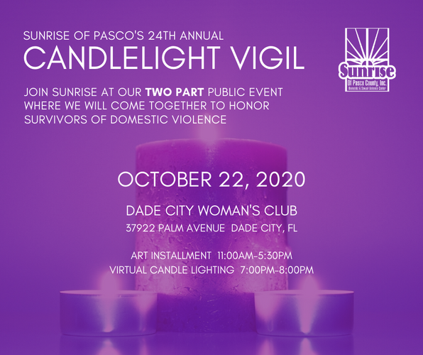 Join us for the 24th Annual Candlelight Vigil on Thursday, October 22nd