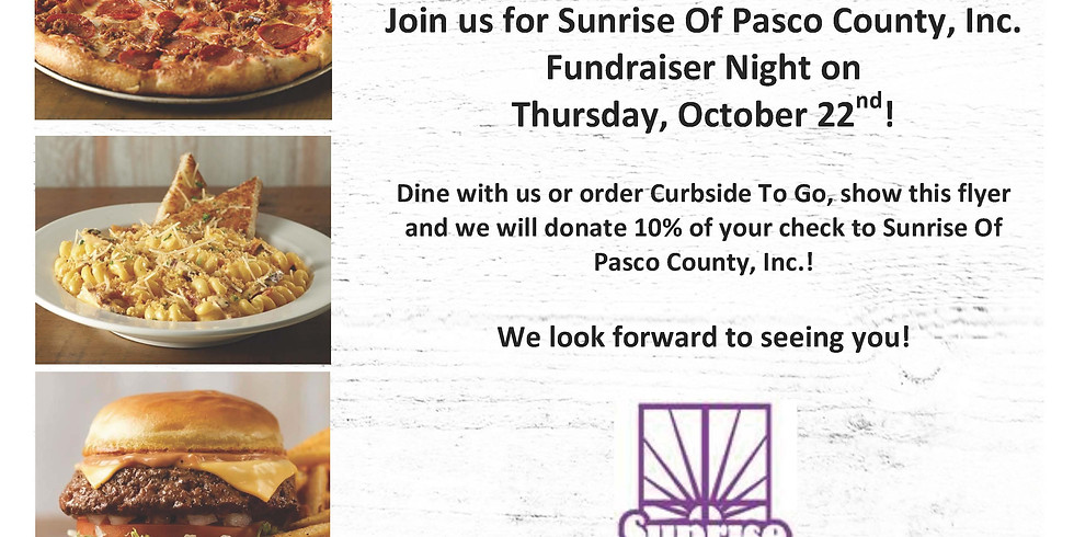 Sunrise Fundraiser Night at Bubba's 33 in Wesley Chapel