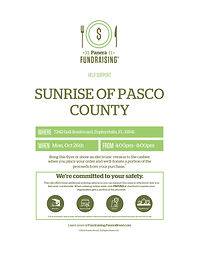 Panera Bread Fundraiser to Support Sunrise of Pasco